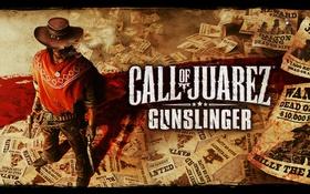Обои пистолеты, ковбой, плакаты, call of juarez gunslinger
