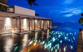 Картинка океан, вечер, бассейн, Таиланд, отель, Phuket, Thailand