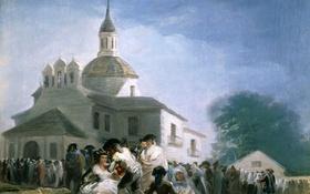 Обои люди, Франсиско Гойя, церковь, храм, картина, Обитель в Сан-Исидро