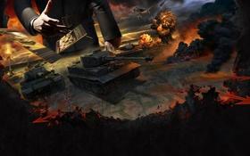 Картинка Карта, Самолёт, World of Tanks, Мир Танков, Wargaming Net, Pz.Kpfw. VI Tiger, Generals