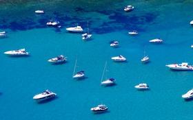 Обои море, бухта, яхты, лодки, залив