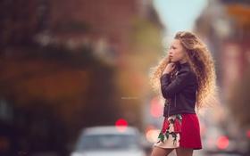 Обои настроение, улица, девочка