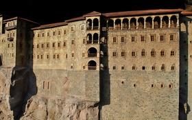 Обои окна, скалы, Миниатюрк, стена, дом, Стамбул