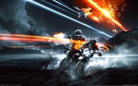 Картинка Истребитель, Battlefield 3, Морпехи, End Game, Внедорожный Мотоцикл, Без Логотипа