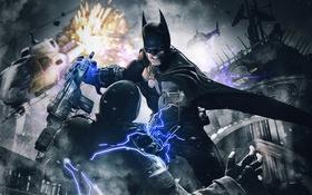 Картинка Hero, Batman, Helicopter, Bruce Wayne, Video Game, Warner Bros. Games Montreal, Batman: Arkham Origins