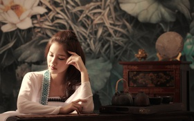 Картинка портрет, столик, восточная