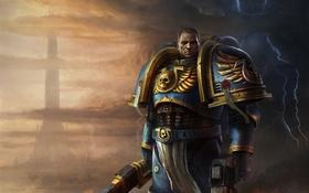 Картинка Warhammer 40K, sergeant, ultramarine