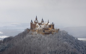 Картинка winter, snow, castle, Hohenzollern
