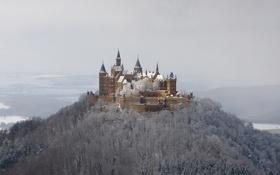 Обои winter, snow, castle, Hohenzollern