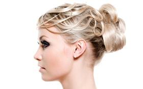 Картинка девушка, макияж, блондинка, причёска