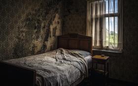 Обои комната, кровать, окно