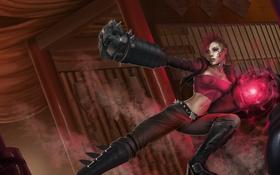 Картинка девушка, металл, крест, руки, арт, League of Legends, розовые волосы