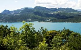 Обои горы, озеро, Франция, Альпы, Le Sauze du Lac