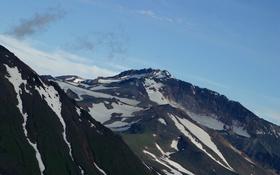 Обои облака, небо, фото, горы, снег, скала