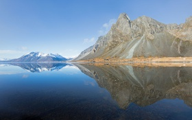 Обои sky, mountains, lake, reflection