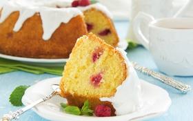 Обои сладость, выпечка, cakes, sweets, Kugelhopf raspberry ice, Kugelhopf с малиной и обледенения