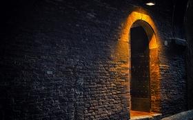 Обои дверь, вход, стена