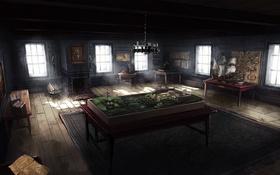 Картинка дом, комната, арт, Assassin's Creed III