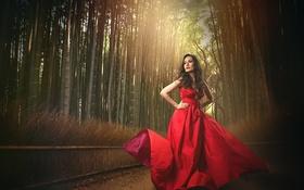 Картинка платье, декольте, в красном, red dress