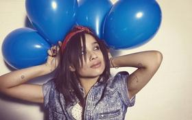 Картинка воздушные шары, брюнетка, balloons, Zoe Kravitz