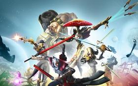 Обои Battleborn, Экипировка, Gearbox Software, 2K Games, Оружие, Магия, Взгляд