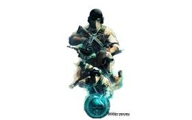 Обои череп, логотип, Обои ghost recon, солдаты, оружие