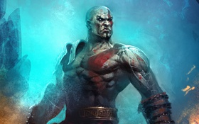 Картинка воин, god of war, kratos, sony, спартанец, Ghost of Sparta