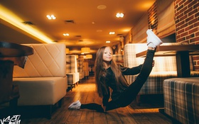 Картинка девочка, взгляд, шпагат, гимнастка, Владимир Смит, Vladimir Smith, photography