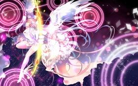 Обои Mahou Shoujo Madoka Magica, Kaname Madoka, Goddess Madoka, Miemia