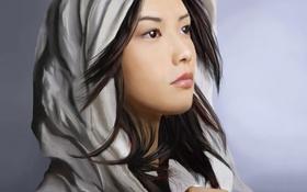 Обои yui, девушка, арт, азиатка