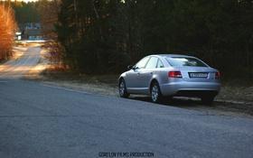 Картинка дорога, деревья, Audi