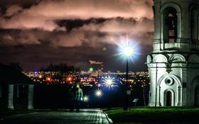 Обои night city, ночь, фонари
