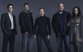 Обои Mireille Enos, первый сезон, Убийство, Stephen Holder, The Killing, Sarah Linden, Joel Kinnaman