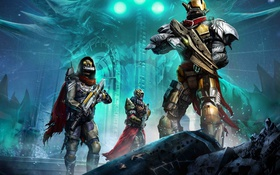 Обои Destiny, Activision, бойцы, Bungie, броня, пришелец, солдаты