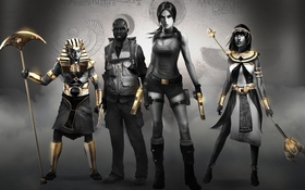 Обои Lara Croft and the Temple of Osiris, Crystal Dynamics, расхитительница гробниц, Square Enix, Лара Крофт, ...
