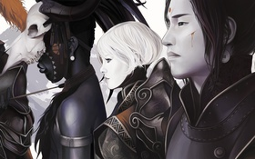 Картинка девушка, лица, парень, art, diablo 3, Demon Hunter, Witch Doctor