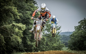 Обои гонка, мотоциклы, спорт