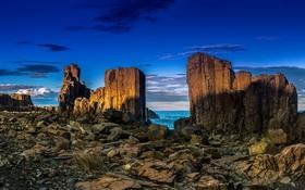 Обои море, природа, скалы, Granite Quarry