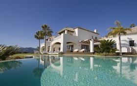 Обои дом, вилла, бассейн