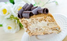 Картинка цветы, сладость, шоколад, пирожное, flowers, cakes, chocolates