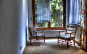 Обои комната, окно, кресла