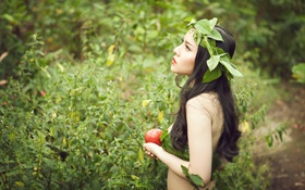 Картинка Model, яблоко, SaSa