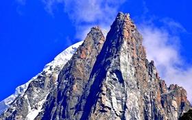 Обои Рона-Альпы, горы, Франция, пик, параплан, парашют, небо