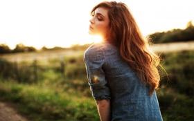Картинка light, Sun, redhead