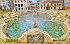 Картинка дома, фонтан, Испания, Андалусия, Приего-де-Кордова, Фуэнте-дель-Рей