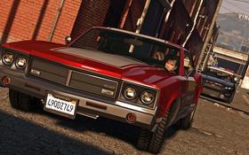 Обои Grand Theft Auto V, Майкл, машина, дорога