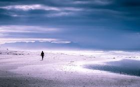 Обои море, пляж, небо, природа