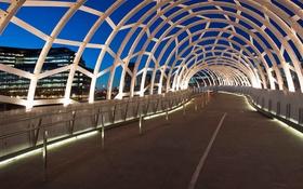 Обои интерьер, Австралия, тоннель, Мельбурн, Webb Bridge