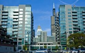 Обои машины, здания, дома, небоскребы, парковка, америка, чикаго