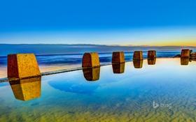 Обои бассейн, горизонт, небо, австралия, море